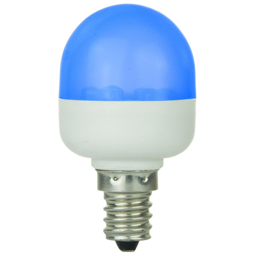 Sunlite T10 Tubular Indicator, Candelabra Base Light Bulb, Blue