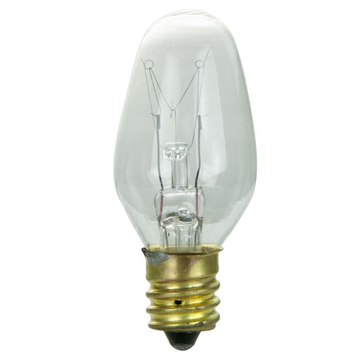 2 Pack Sunlite 7 Watt C7 Night Light, Candelabra Base, Clear