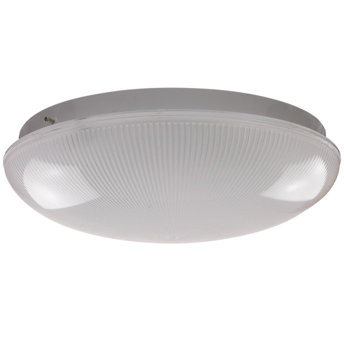"Sunlite 14"" 1 Lamp Fluorescent Circline Fixture, White Finish, Ribbed Frosted Lens"