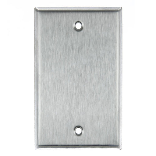 Sunlite E401/S 1 Gang Blank Switch and Receptacle Plate, Steel