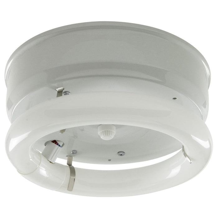 "7"" 1 Lamp Fluorescent Circline Fixture, White Finish"