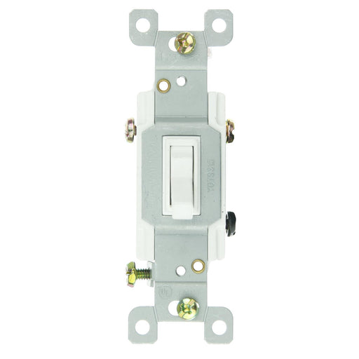 Sunlite E507 3 Way Grounded Toggle Switch, White
