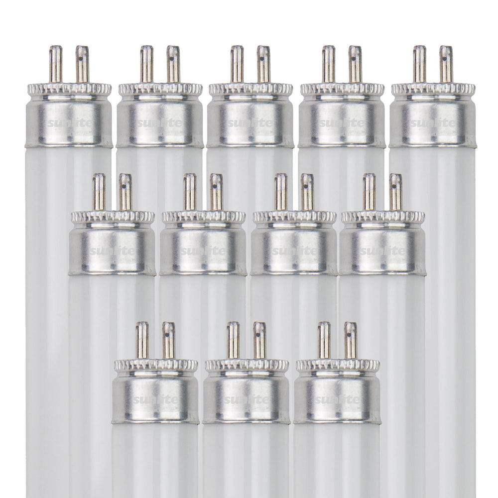 Sunlite F54T5/841/HO/12PK 54 Watt T5 High Output High Performance Straight Tube Mini Bi-Pin (G5) Base, 4100K Cool White, 12 Pack