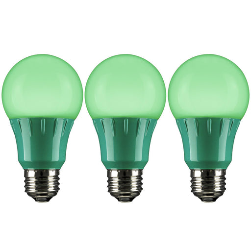 Sunlite 3 Watt A19 Lamp Medium Base Green
