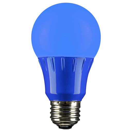 Sunlite LED A Type Colored 3W Light Bulb Medium (E26) Base, Blue