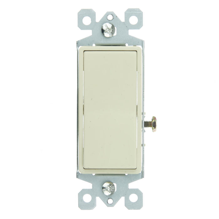 Sunlite E510/CD On/Off Grounded Rocker Switch, Ivory
