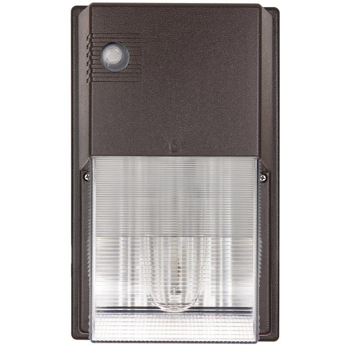 Sunlite 35 Watt High Pressure Sodium Tall Pack Fixture with Photocontrol, Bronze Powder Finish, Clear Polycarbonate Lens