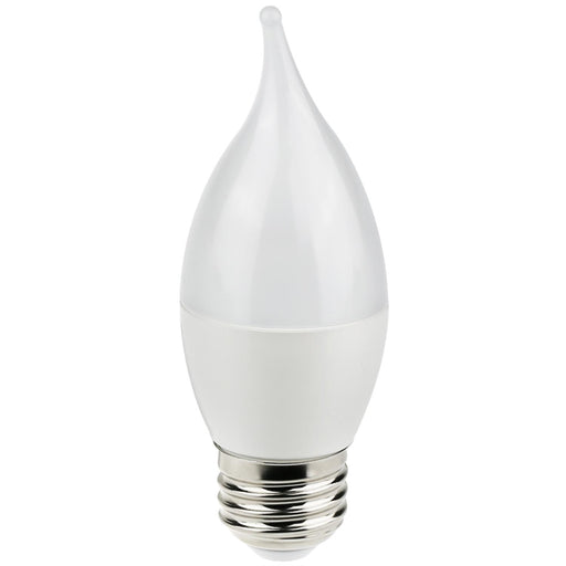 Sunlite LED Flame Tip Chandelier 7W (60W Equivalent) Light Bulb Medium (E26) Base, Warm White