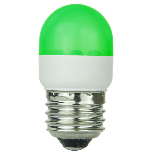 Sunlite T10 Tubular Indicator, Medium Base Light Bulb, Green