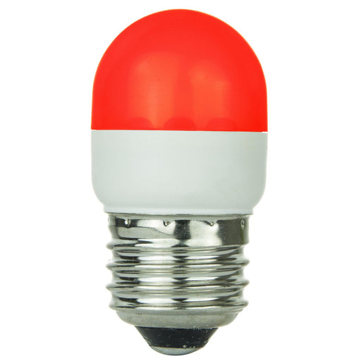 Sunlite T10 Tubular Indicator, Medium Base Light Bulb, Red