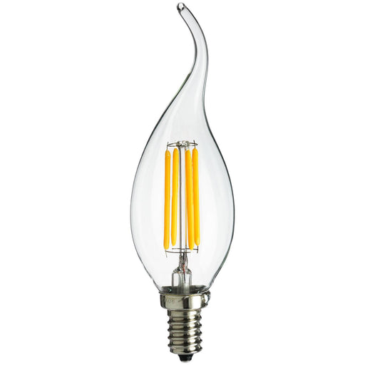 Sunlite LED Vintage Chandelier 4W (25W Equivalent) Light Bulb Candelabra (E12) Base, Warm White