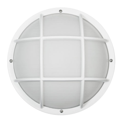 Sunlite Decorative Outdoor Eurostyle Grid Fixture, White Finish, Frosted Lens