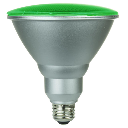Sunlite LED PAR38 Colored Reflector 6W Light Bulb Medium (E26) Base, Green