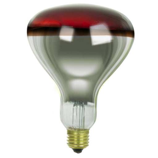 Sunlite 375 Watt R40 Incandescent Heat Lamp Bulb, Medium Base, Red, Dimmable, Ideal for food preparation areas, saunas, infrared light therapy, salons, bathrooms, animal & reptile encosures and more