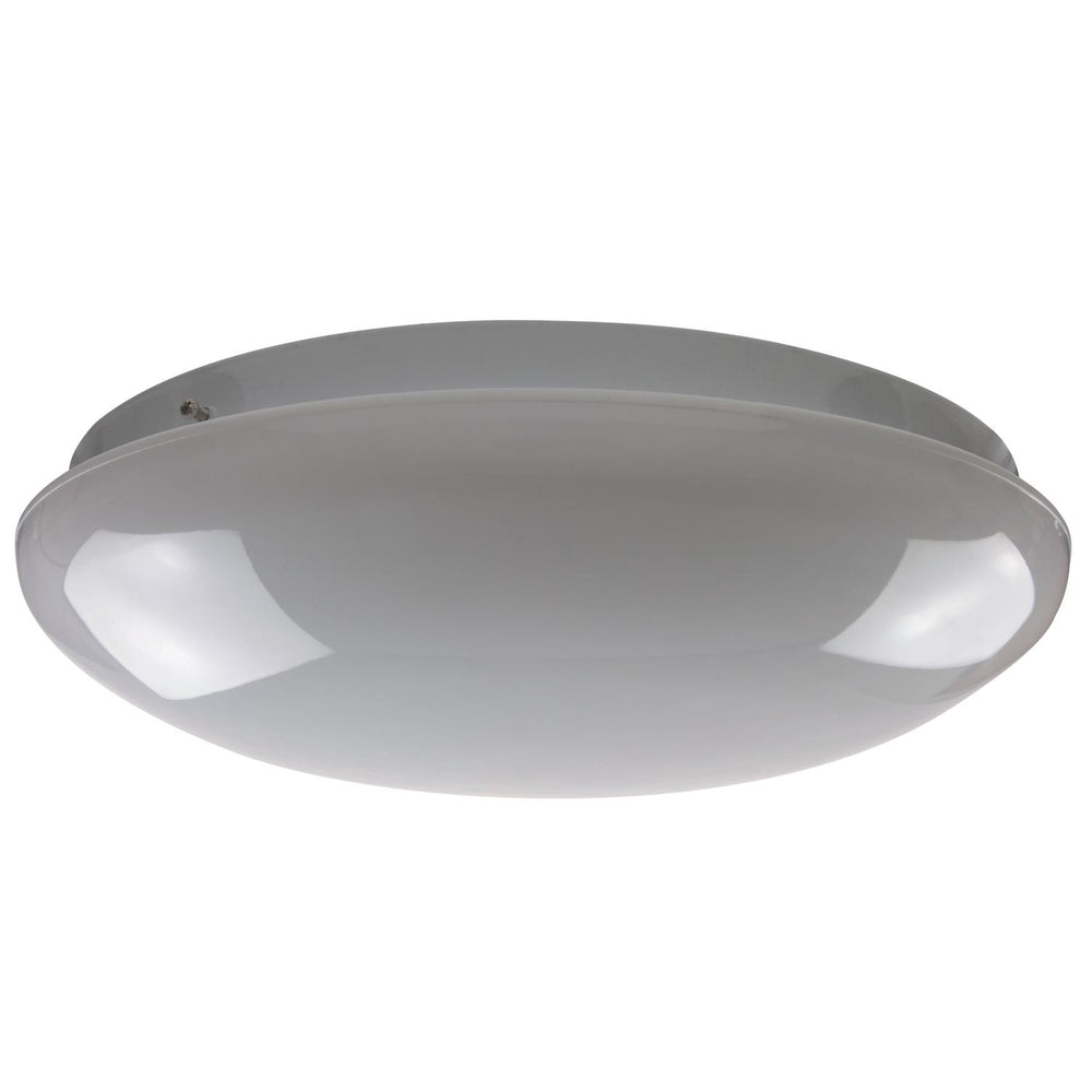 "14"" 1 Lamp Fluorescent Circline Fixture, White Finish, White Mushroom Lens"