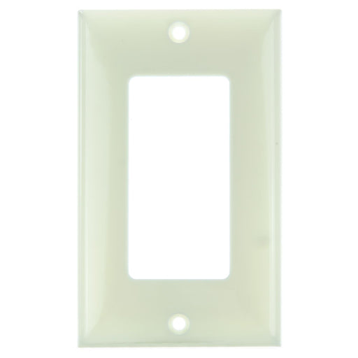 Sunlite E301/A 1 Gang Decorative Switch and Receptacle Plate, Almond