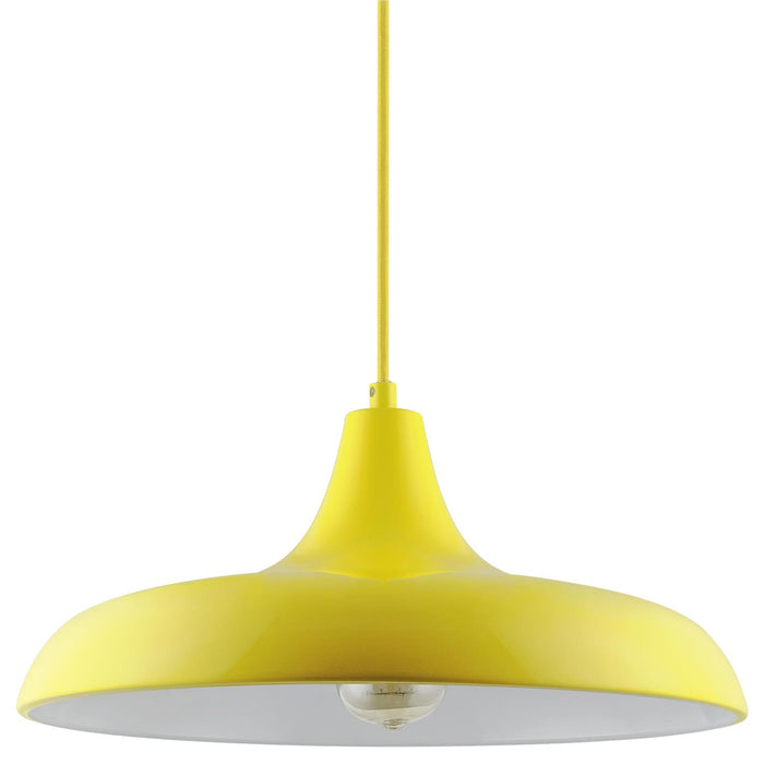 Sunlite CF/PD/N/Y Yellow Nova Residential Ceiling Pendant Light Fixtures With Medium (E26) Base
