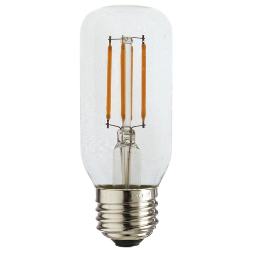 Sunlite 80892 LED Filament T12 Tube 3-Watt (40 Watt Equivalent) Clear Dimmable Light Bulb, 2700K - Warm White