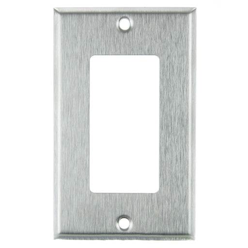 Sunlite E301/S 1 Gang Decorative Switch and Receptacle Plate, Steel