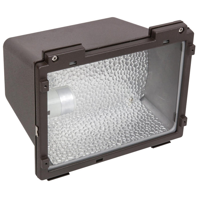 Sunlite 75 Watt High Pressure Sodium Small Floodlight Fixture, Bronze Powder Finish, Clear Tempered Glass