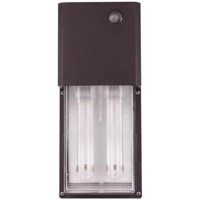 Sunlite 26 Watt Energy Saving Fluorescent Tall Pack Fixture with Photocontrol, Bronze Powder Finish, Clear Polycarbonate Lens