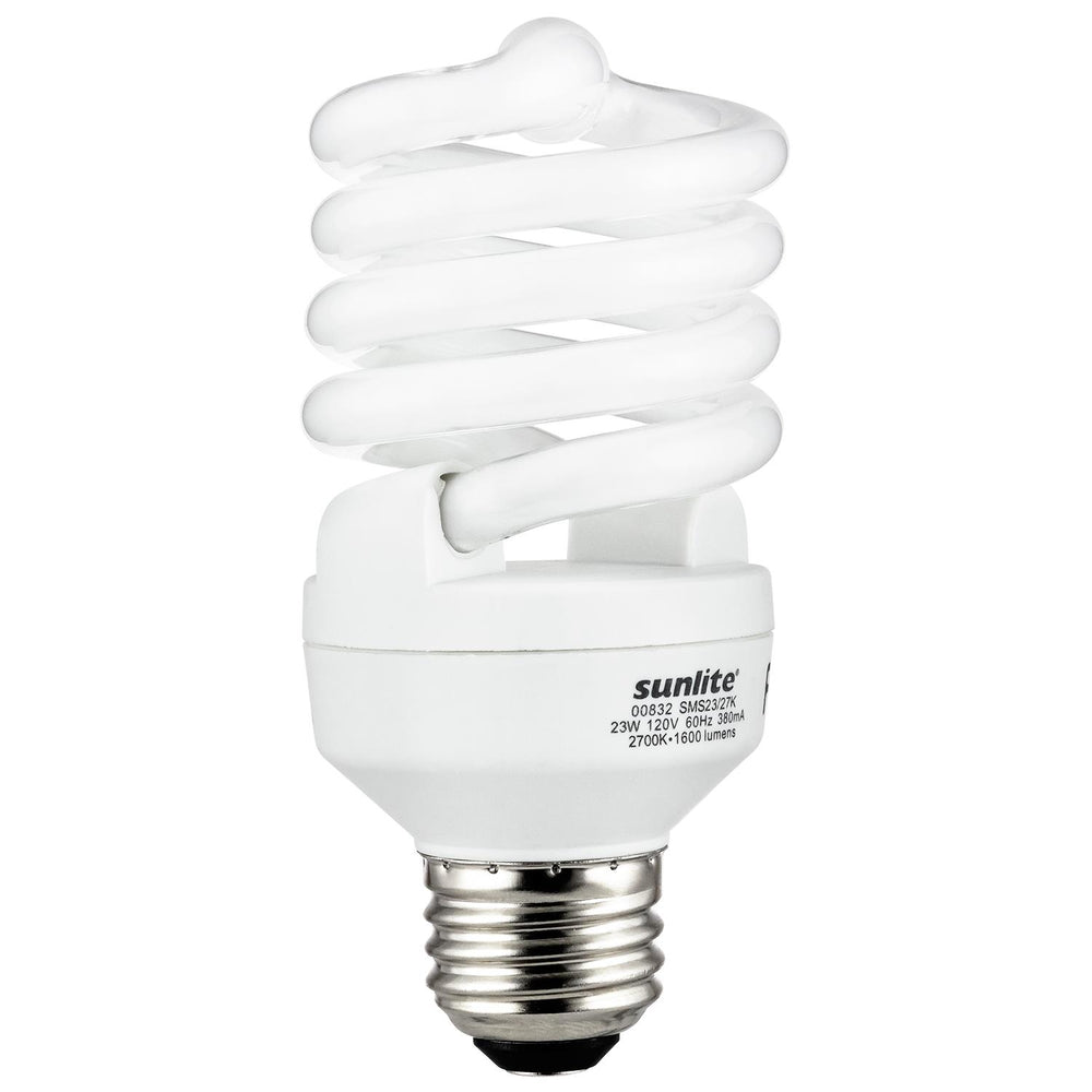 Sunlite 23 Watt Super Mini Spiral, Medium Base, Daylight