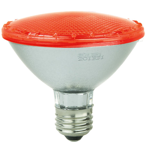 Sunlite LED PAR30 Colored Reflector 3W Light Bulb Medium (E26) Base, Red