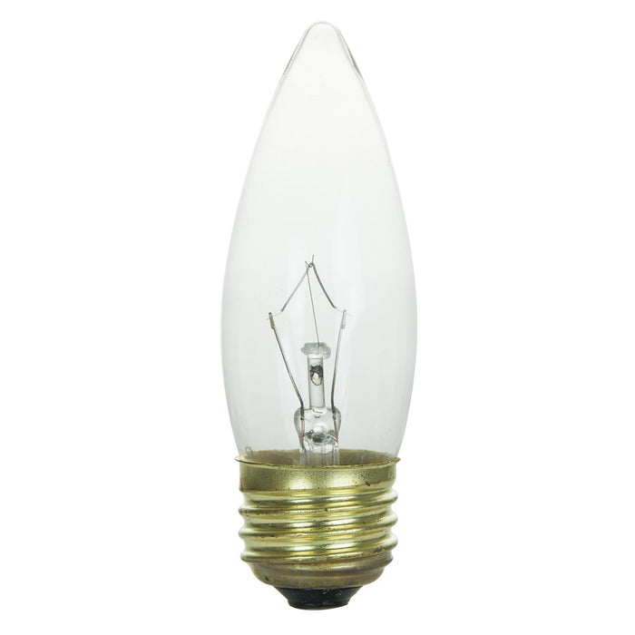 Sunlite 25 Watt Torpedo Tip Chandelier , Medium Base, Clear