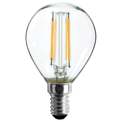 Sunlite 81127 LED Filament G16.5 Globe 3-Watt (40 Watt Equivalent) Clear Dimmable Light Bulb, 5000K - Super White