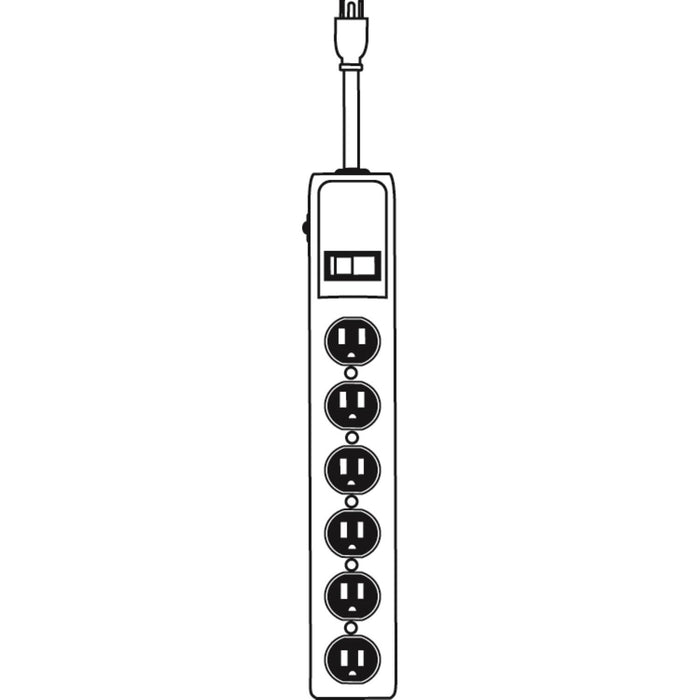 Sunlite ESP6/M 6 Outlet Metal Power Strip