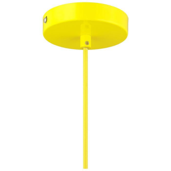 Sunlite CF/PD/Z/Y Yellow Zed Residential Ceiling Pendant Light Fixtures With Medium (E26) Base