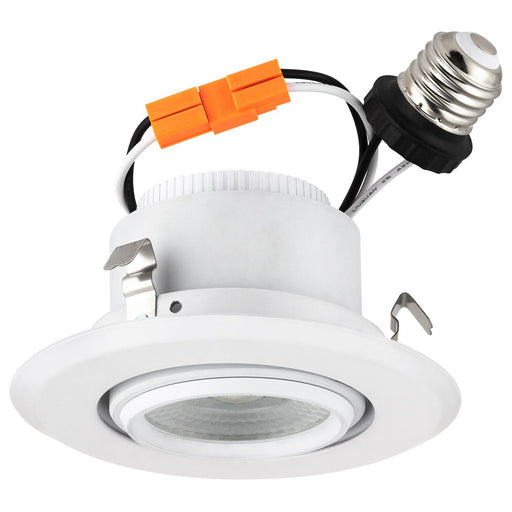 Sunlite Dimmable LED 4-Inch Round Retrofit Gimbal Recessed Downlight, Can Lighting Replacement, Directional Swivel, Indoor & Outdoor, Medium (E26) Base, 10 Watt (75 Watt Equivalent), Emits 3000K Warm White Light