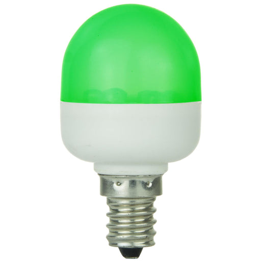 Sunlite T10 Tubular Indicator, Candelabra Base Light Bulb, Green