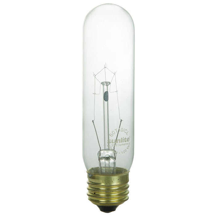 Sunlite 40 Watt T10 Tubular, Medium Base, Clear