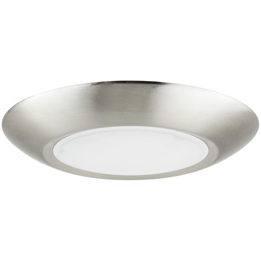 Sunlite 6-Inch Round LED Mini Flat Panel Fixture, 15 Watts (60W Equivalent), 120 Volts, Color Tunable (30K/40K/50K), 800 Lumens, Dimmable, 50,000 Hour Life Span, ETL Listed, Brushed Nickel Finish