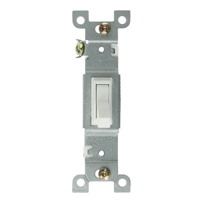 Sunlite E505 On/Off Grounded Toggle Switch, White
