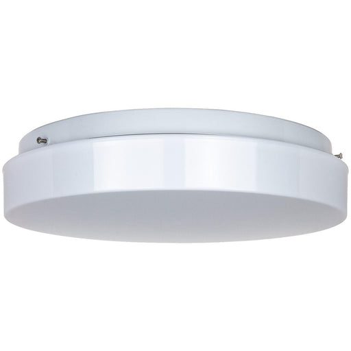 "14"" 2 23W GU24 Lamp Fluorescent Circline Fixture, White Finish, White Lens"