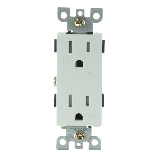 Sunlite E559/WH 15A Tamper Resistant Decorative Receptacle, White