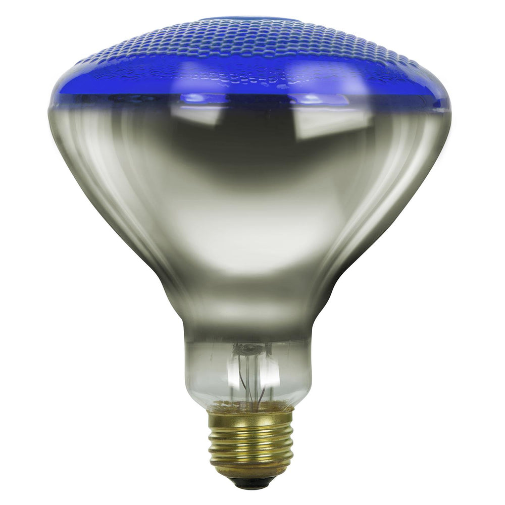 Sunlite 100 Watt BR38 Colored Reflector, Medium Base, Prismatic Blue
