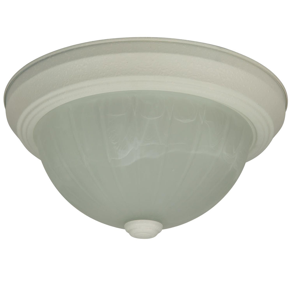 "Sunlite 11"" Energy Saving Dome Fixture, Smooth White Finish, Alabaster Glass"