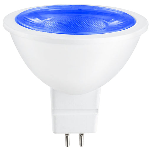 Sunlite MR16 Blue LED Bulb, 12 Volt, 3 Watt, 90 Lumens, GU5.3 Base, 30,000 Hour Long Life, 25W Equivalent, Energy Saving, Cool Touch