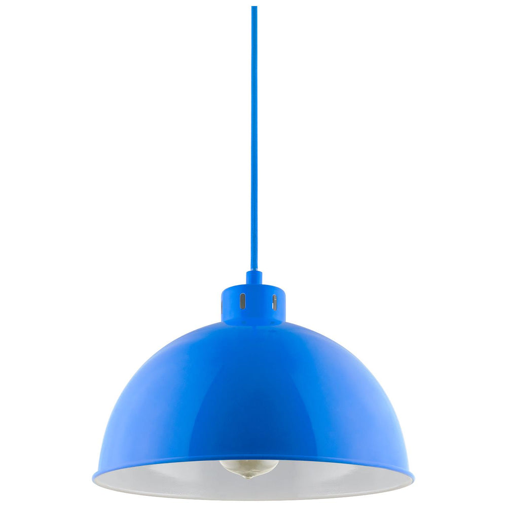 Sunlite CF/PD/S/B Blue Sona Residential Ceiling Pendant Light Fixtures With Medium (E26) Base