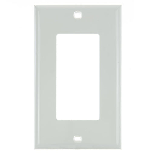 Sunlite E301/W 1 Gang Decorative Switch and Receptacle Plate, White