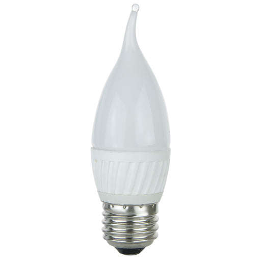 Sunlite Flame Tip Chandelier, 320 Lumens, Medium Base Light Bulb, Warm White