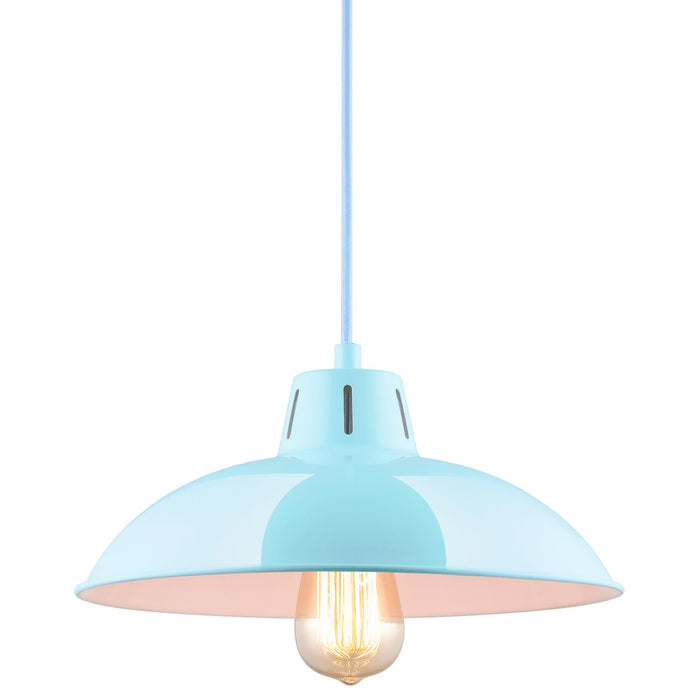 Sunlite CF/PD/V/BB Baby Blue Vega Residential Ceiling Pendant Light Fixtures With Medium (E26) Base