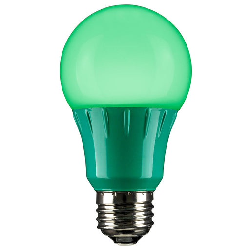Sunlite LED A Type Colored 3W Light Bulb Medium (E26) Base, Green