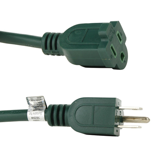 Sunlite EX20-16/3/HD/G 20' Heavy Duty Green Extension Cord