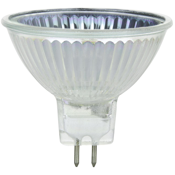 Sunlite 50 Watt, 38° Flood, MR16 Mini Reflector with Cover Guard, GU5.3 Bi-Pin Base