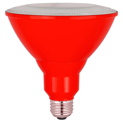 Sunlite LED PAR38 Red Floodlight Bulb, 8W (25W Equivalent), Medium (E26) Base, Indoor, Outdoor, Wet Location, Turtle Safe and Wildlife Friendly, 25,000 Hour Lifespan, UL Listed
