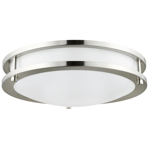 Sunlite 88315-SU LED Flush Mount Double Band Ceiling Fixture, 15 Watt, Dimmable, Brushed Nickel Finish, 12-Inch 40K - Cool White